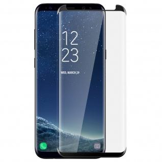 Displayschutzfolie mit abgerundeten Kanten + Rand Schwarz für Samsung Galaxy S8
