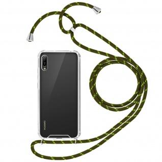 Handykette Handyhülle mit Halsband Honor 8A, Huawei Y6 2019, Huawei Y6S - Grün