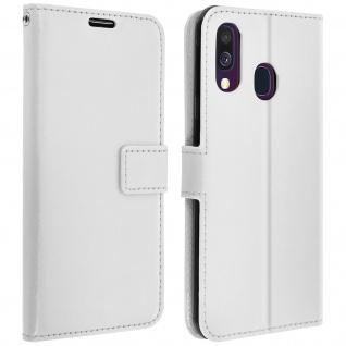 Flip Stand Cover Brieftasche & Standfunktion für Samsung Galaxy A40 - Weiß