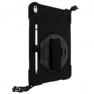 Stoßfeste Hybrid Schutzhülle + Ständer iPad Air 2019 / iPad Pro 10.5 ? Schwarz