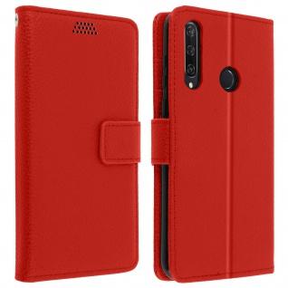 Huawei Y6p Flip-Cover mit Kartenfächern & Standfunktion - Rot