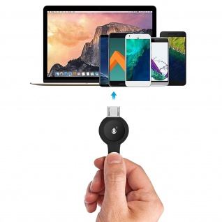 Micro-USB / USB Nylon Kabel, Lade- & Synchronisationskabel, 2A - Schwarz - Vorschau 5
