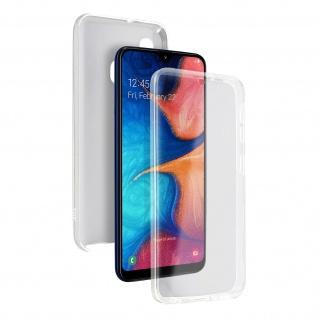 Schutzhülle für Samsung Galaxy A20e, Vorder- + Rückseite ? Transparent