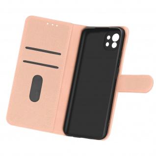 Flip Cover Geldbörse, Etui Kunstleder für Xiaomi Mi 11 5G ? Rosegold