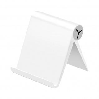 Tablet / Smartphone Multi-Position Tischständer, faltbares Design ? Silber