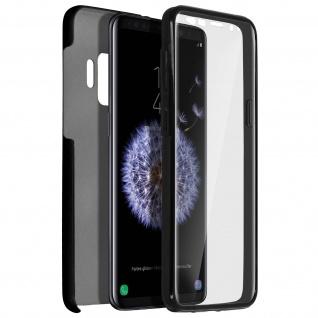 Schutzhülle für Galaxy S9, Vorder- + Rückseite, Silikon/ Polycarbonat - Schwarz