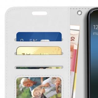 Flip Stand Cover Brieftasche & Standfunktion für Samsung Galaxy A40 - Weiß - Vorschau 5