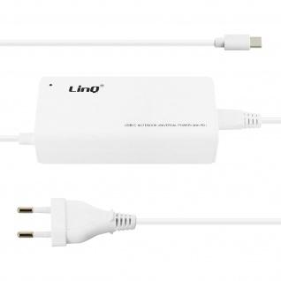 LinQ TJ-281 weißes Wand-Ladegerät 1x 65W PD USB-C Anschluss und 1x USB Anschluss