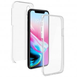 Schutzhülle für Apple iPhone X, Vorder- + Rückseite - Transparent