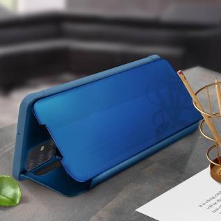 Mirror Klapphülle, Spiegelhülle für Samsung Galaxy A71 - Blau - Vorschau 3