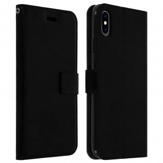 Flip Stand Cover Brieftasche & Standfunktion Apple iPhone XS Max - Schwarz
