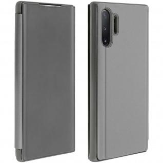 Samsung Galaxy Note 10 Plus Cover mit Spiegeleffekt & Standfunktion - Silber