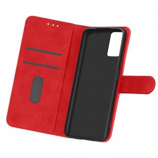 Flip Cover Geldbörse, Etui Kunstleder für Samsung Galaxy A32 ? Rot