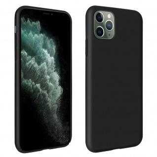 Halbsteife Silikon Handyhülle Apple iPhone 11 Pro Max, Soft Touch - Schwarz