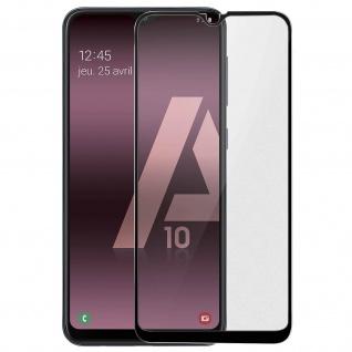 Premium Panzerglas Schutzfolie für Samsung Galaxy A10 - Rand Schwarz