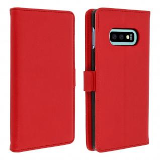 DZgogo Klappetui mit Kartenfach & Standfunktion Samsung Galaxy S10e Rot