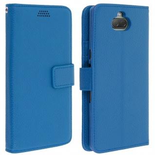Sony Xperia 10 Flip-Cover mit Kartenfächern & Standfunktion â€? Blau