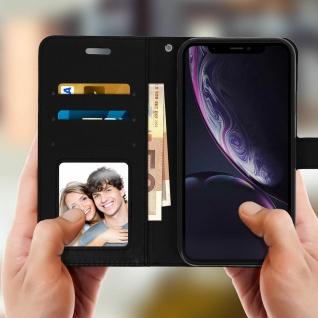 Flip Stand Cover Brieftasche & Standfunktion Apple iPhone XR - Schwarz - Vorschau 3