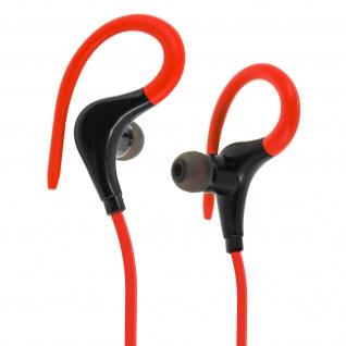 Bluetooth-Sport-Kopfhörer - Fernbedienung + Mikrofon - Rot