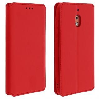 Flip Kunstleder Cover Geldbörse Classic Edition Nokia 2.1 - Rot
