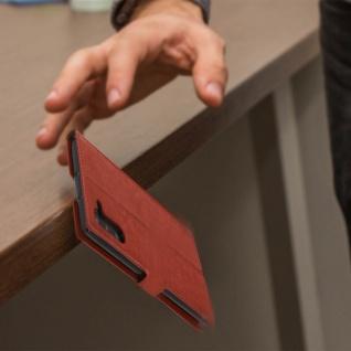 Flip Cover Stand Case Brieftasche & Standfunktion für Galaxy Note 10 - Braun - Vorschau 5
