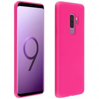 Halbsteife Silikon Handyhülle Samsung Galaxy S9 Plus, Soft Touch - Fuchsienrot