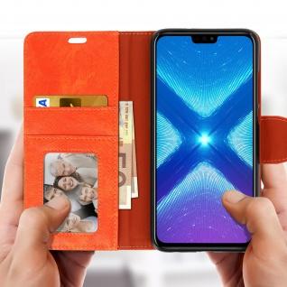 Flip Stand Cover Brieftasche & Standfunktion Huawei Honor 8X - Orange - Vorschau 3