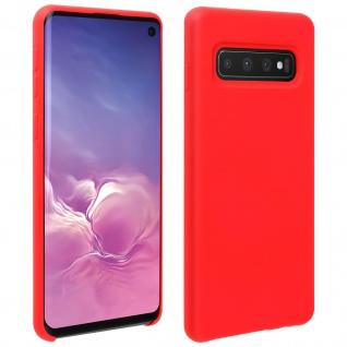 Halbsteife Silikon Handyhülle Samsung Galaxy S10, Soft Touch - Rot
