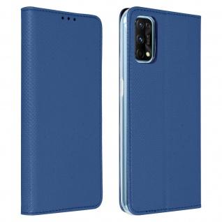 Realme 7 Pro Flip Cover mit Standfunktion ? Blau