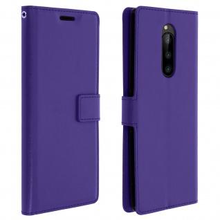 Flip Stand Cover Brieftasche & Standfunktion für Sony Xperia 1 - Violett