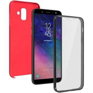 Schutzhülle für Samsung Galaxy A6, Vorder- + Rückseite - Rot