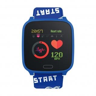 IP68 wasserdichte Kinder Smartwatch Silikon-Armband, iGO Forever � Blau