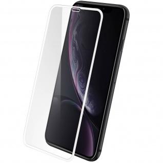 Apple iPhone XR Displayschutzfolie aus Glas mit abgerundeten Kanten Weiß