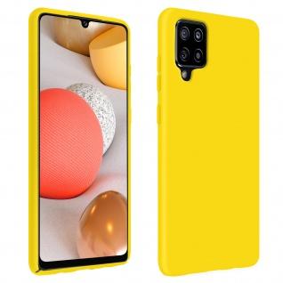 Halbsteife Silikon Handyhülle für Samsung Galaxy A42 5G, Soft Touch - Gelb