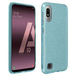 Schutzhülle, Glitter Case für Samsung Galaxy A10, shiny & girly Hülle - Blau