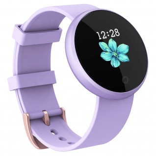 Bluetooth feminine Smartwatch, Touchscreen & Waterproof, Silikon Armband - Lila