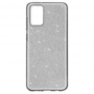 Schutzhülle, Glitter Case für Samsung Galaxy A02s â€? Silber