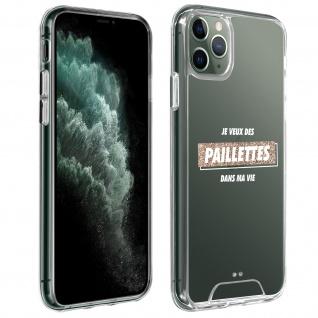 "Handyhülle für Apple iPhone 11 Pro, Made in France ? "" Paillettes"" Design"