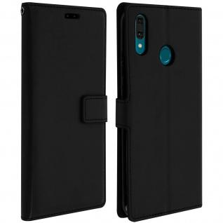 Flip Stand Cover Brieftasche & Standfunktion für Huawei Y9 2019 - Schwarz