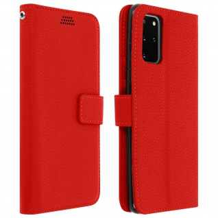 Samsung Galaxy S20 Flip-Cover mit Kartenfächern & Standfunktion - Rot