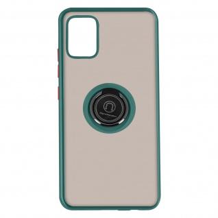 Hybrid Handyhülle mit Ring-Halterung für Galaxy A51 ? Grün