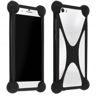 Universal stoßfeste Schutzhülle Silikon für Smartphones - Mocca Design