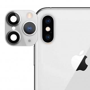 Apple iPhone 11 Pro weißer Fake Kamera Aufkleber für die Rückkamera aus Glas