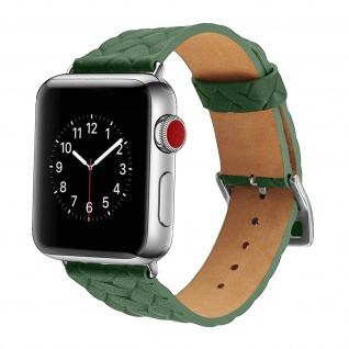 Apple Watch 38/40 mm Armbanduhr aus geflochtenem Kunstleder ? Grün