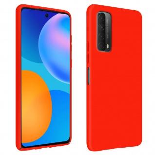 Halbsteife Silikon Handyhülle für Huawei P Smart 2021, Soft Touch - Rot