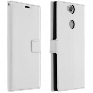 Flip Stand Cover Brieftasche & Standfunktion Sony Xperia XA2 Plus - Weiß - Vorschau 1