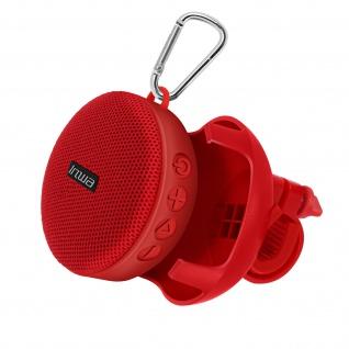 5W Bluetooth Fahrrad Lautsprecher, IPX7 Wasserdicht - Rot