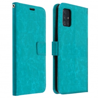 Flip Cover Stand Case Brieftasche & Standfunktion Samsung Galaxy A71 - Blau