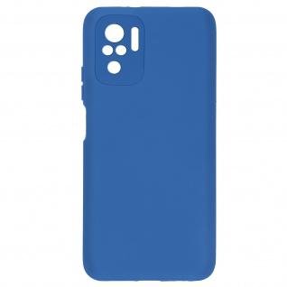 Halbsteife Silikonhülle für Xiaomi Redmi Note 10 / Note 10s, Soft Touch ? Blau