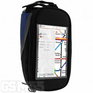 Fahrrad-Halterung mit Klettverschluss für Smartphones - Blau und Schwarz